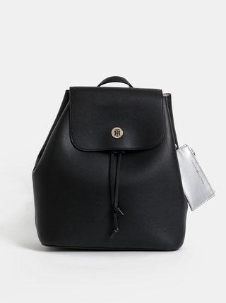 Čierny batoh s peňaženkou 2v1 Tommy Hilfiger Charming