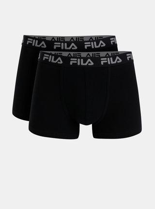 Sada dvou černých boxerek FILA