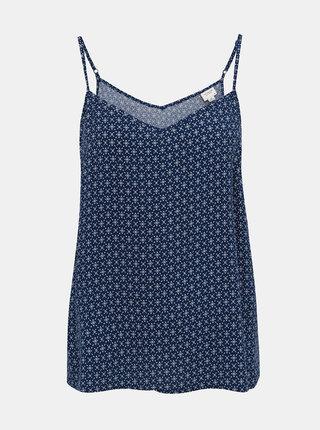 Tmavě modrý vzorovaný top na ramínka Jacqueline de Yong Star