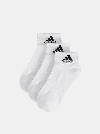 Balenie troch párov bielych ponožiek adidas Performance