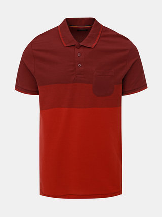 Vínové polo tričko Jack & Jones Thomas