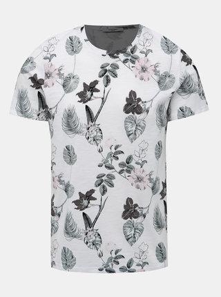 Biele kvetované tričko Jack & Jones Palmer