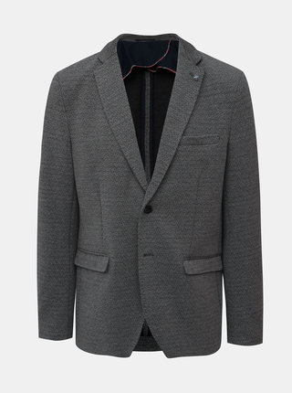 Šedé slim fit sako Selected Homme Shaft