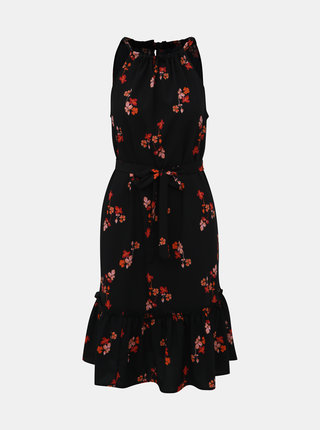 Černé květované šaty VERO MODA Carina