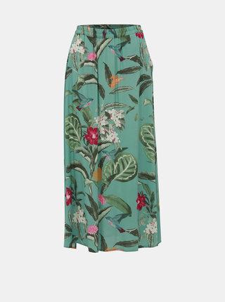 Zelená květovaná maxi sukně VERO MODA Simply