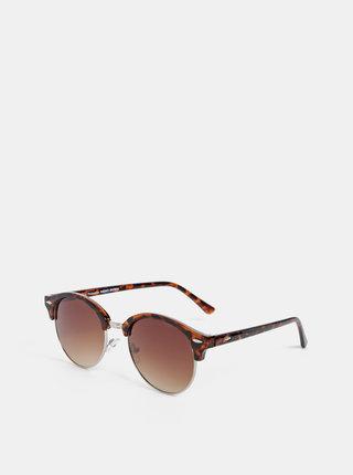 Hnedé vzorované slunečné okuliare VERO MODA Smile