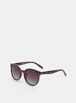 Tmavě hnědé vzorované sluneční brýle VERO MODA Smile