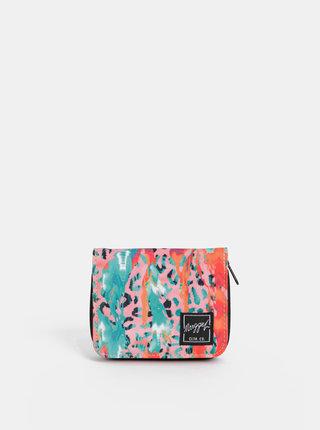 Zeleno-rúžová dámska vzorovaná peňaženka NUGGET Aurora