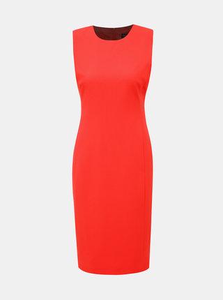 Oranžové pouzdrové šaty Dorothy Perkins