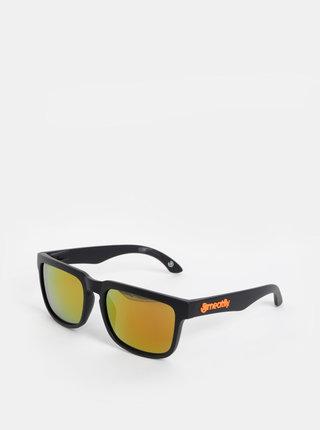 Černé sluneční brýle Meatfly Memphis