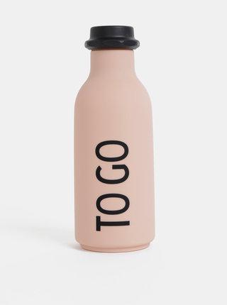 Starorůžová láhev na pití Design Letters To Go 500 ml