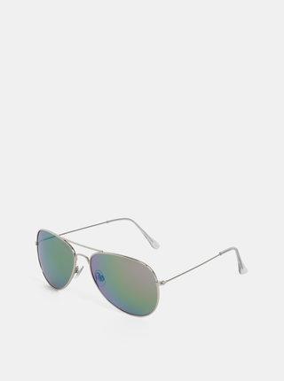 Slnečné okuliare v striebornej farbe Dorothy Perkins