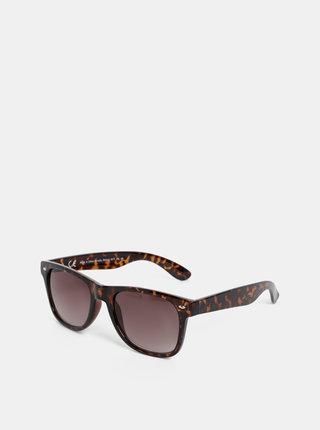 Tmavě hnědé vzorované sluneční brýle Dorothy Perkins