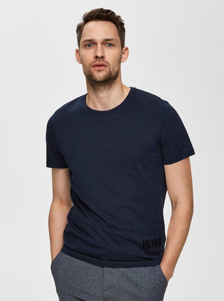Tmavomodré tričko Selected Homme Place