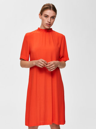 Rochie oranj Selected Femme Rinna