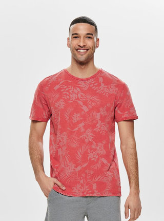 Tricou rosu cu model ONLY & SONS Pecos