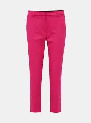 Tmavorúžové skrátené nohavice Dorothy Perkins