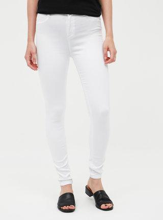 Bílé skinny fit džíny s vysokým pasem Dorothy Perkins Petite Frankie