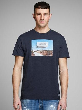 Tmavě modré tričko Jack & Jones Renzu