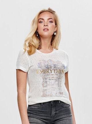 Bílé tričko ONLY Riley