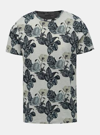 Svetlozelené kvetované tričko Jack & Jones Palmer