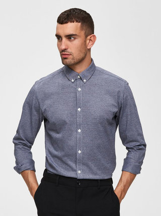 Camasa formala gri melanj slim fit Selected Homme