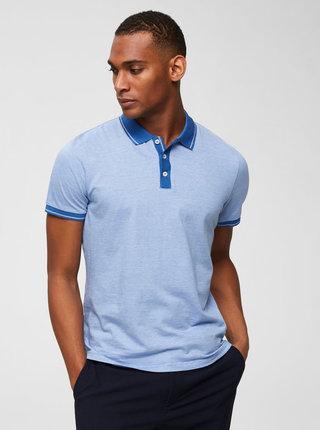 Modré žíhané polo tričko Selected Homme Joe