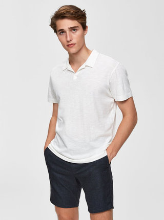 Tricou polo crem Selected Homme Fillipe
