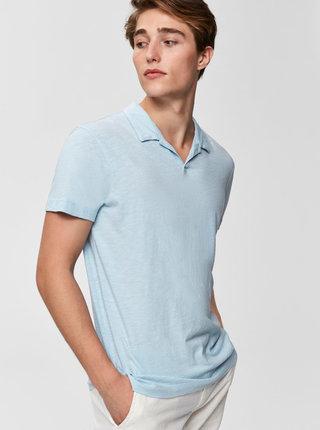 Světle modré basic polo tričko Selected Homme Fillipe
