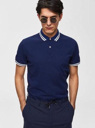 Tmavě modré polo tričko Selected Homme Lau