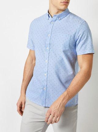 Camasa albastru deschis cu model Burton Menswear London