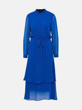Modré košeľové maxišaty Dorothy Perkins