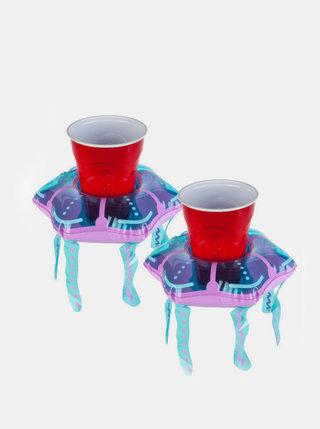 Sada dvou nafukovacích držáků na pití v modré barvě BigMouth Inc.