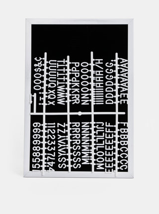 Černo-bílá tabule s písmeny SIFCON