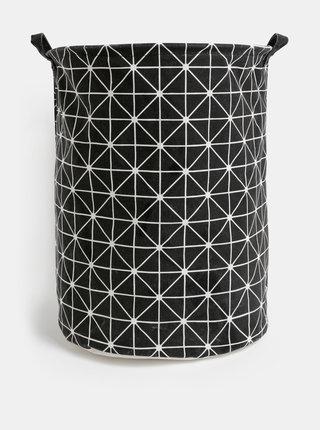 Černý vzorovaný koš na prádlo SIFCON