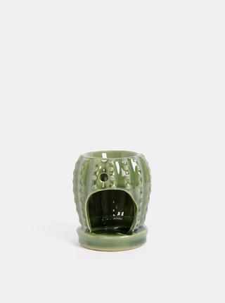 Svetlozelená aromalampa v tvare kaktusu SIFCON