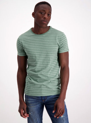 Tricou basic verde deschis in dungi Lindbergh