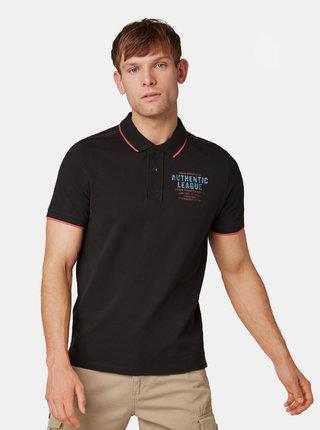 Černé pánské polo tričko Tom Tailor