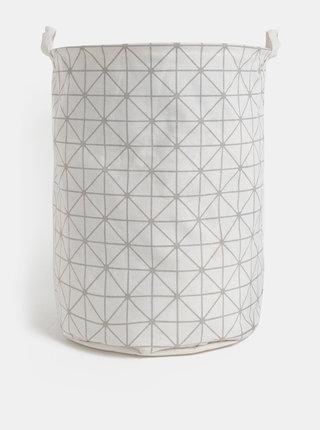 Krémový vzorovaný koš na prádlo SIFCON