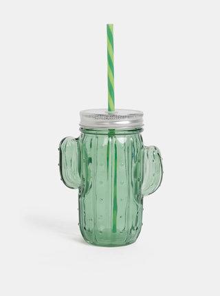 Tmavozelený pohár v tvare kaktusu SIFCON