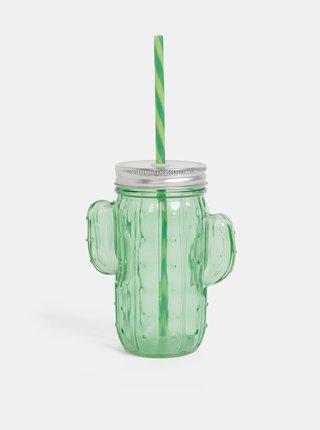 Zelený pohár v tvare kaktusu SIFCON