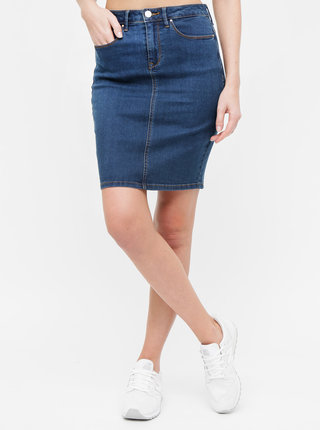 Tmavomodrá rifľová sukňa VILA Commit Felicia