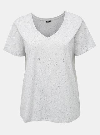 Svetlošedé žíhané basic tričko Zizzi Chloé