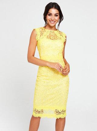 Žluté krajkové šaty Paper Dolls