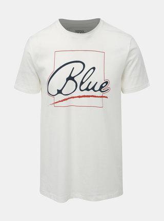 Biele slim fit tričko s potlačou ONLY & SONS Lounge