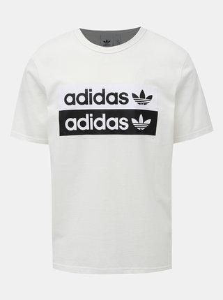 Biele tričko s potlačou adidas Originals