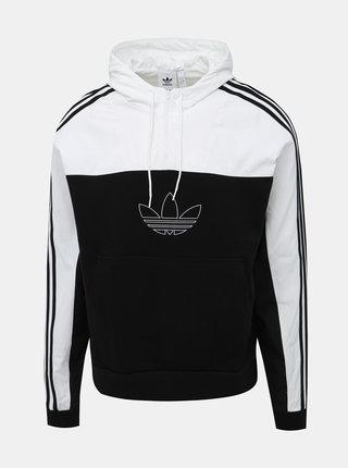 Bílo-černá bunda s mikinovou spodní částí adidas Originals