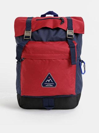 Modro-červený batoh Jack & Jones Christian