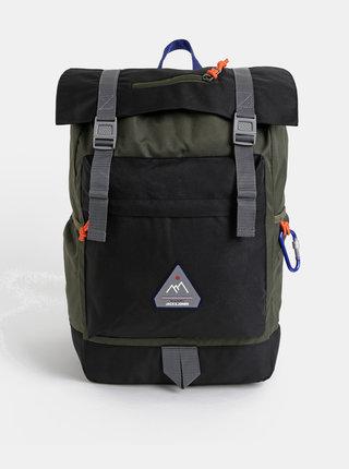 Zeleno-černý batoh Jack & Jones Christian