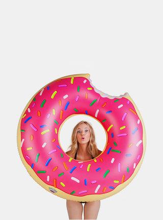 Rúžový nafukovací kruh do vody v tvare donutu BigMouth Inc.